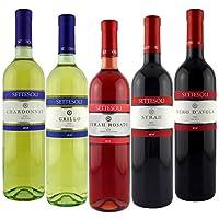 Settesoli 西施西里五种口味葡萄酒组合装750ml*5(意大利进口葡萄酒)