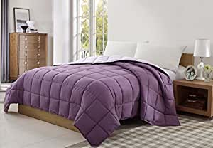 CARIBBEAN JOE Victoria Classics Reversible Blanket, King, Purple/Lavender