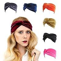 xsby 弹性运动头巾瑜珈发带运动时尚头巾适合年轻女士女孩 均码