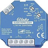 Eltako 通用 - dimmsc 支架230 V, 功率 MOSFET 至400 W, ESL 至400 W 和 LED 至400 W, 1件, eud61npn - V