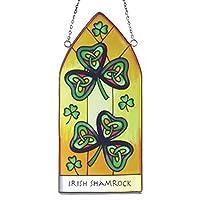 爱尔兰三叶草 Suncatchers - 三叶草哥特式彩色玻璃板窗挂件。 爱尔兰礼品从爱尔兰发货。
