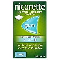 Nicorette 力克雷 戒烟口香糖冰爽薄荷味, 4 mg, 105 片