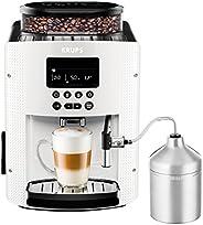 Krups 克鲁伯 EA8161全自动咖啡机(1.8升,15巴,液晶显示器,AutoCappuccino系统),白色