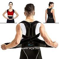 背部支撑姿势矫正器,男女背部支撑带,腰部和上背部*(腰围 23.6-27.5 英寸)