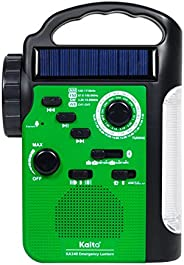 Kaito KA340 5 路电源充电 LED 露营灯&应急 AM/FM/SW NOAA 天气警报收音机,带蓝牙,手电筒,5V USB 手机充电器,MP3 播放器
