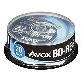 AVOX 蓝光盘 BD-RE 重复录像用 25G 1-2倍速 10张 主轴箱 BE130RAPW10PA parentBE130RAPW20PA 主轴箱 25GB/20枚
