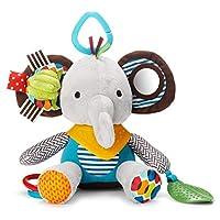 SKIP HOP 婴儿玩耍和磨牙玩具 大手帕伙伴 带有多感官摇铃和纹理,大象