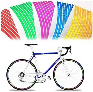48 个反光自行车轮辋贴纸亮反射贴纸适用于运动自行车自行车轮 - 用于头盔,汽车保险杠,轮辋贴纸