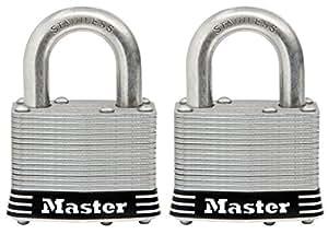 MASTERLOCK CO 5SSKADHC 不锈钢层压挂锁,5.08cm 1-Inch Shackle 5SSTHC
