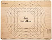 KitchenCraft Large Wooden Pastry Board with Markings - Wooden 17 3/4 inches x 13 3/4 inches