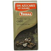 Torras 无添加糖咖啡黑巧克力棒(10 件装)