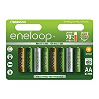 Panasonic 松下eneloop AA可充電電池,Limited Edition(Botanic Pack)1900mAh容量可充電電池,8個裝