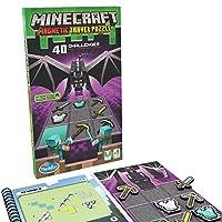 ThinkFun Minecraft 磁性旅行拼图逻辑游戏和 STEM 玩具,适合 8 岁及以上儿童