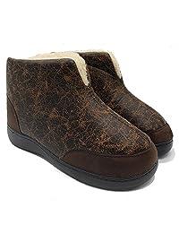 Boree 男式保暖皮拖鞋