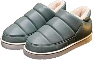 女式靴子拖鞋室内室外冬季平底防水及踝靴软帮鞋