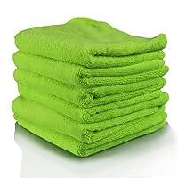 Chemical Guys MIC3336G El Gordo专业超厚Supra超细纤维毛巾 绿色  16.5 英寸x 16.5 英寸(6件套装)(亚马逊进口直采,美国品牌)