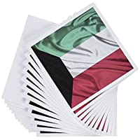 3dRose 8 x 8 x 0.25 Inches Kuwait Flag Greeting Card, Set of 12 (gc_28262_2)