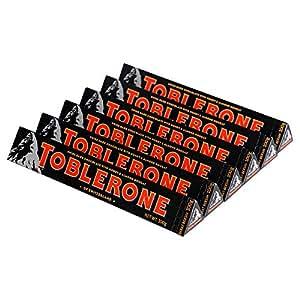 Toblerone瑞士三角 瑞士进口巧克力 黑巧克力 白巧克力 牛奶巧克力 口味组合规格可选 (黑巧100g*6)