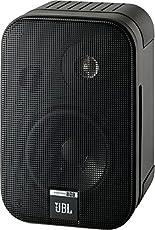 """JBL Control One 小型耐用 2路 100毫米(4 """")扬声器,卫星扬声器,工作室监听音箱(1对) 黑色"""
