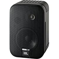 JBL Control one 堅固緊湊型 書架音箱 衛星音箱 工作室監聽音箱 (一對裝),黑色