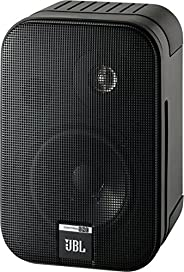 JBL Control one 坚固紧凑型 书架音箱 卫星音箱 工作室监听音箱 (一对装),黑色