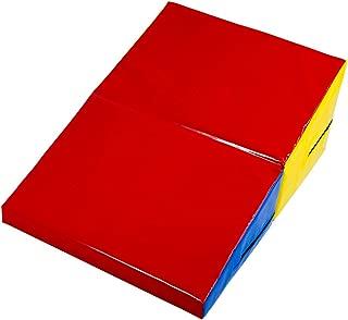K-Roo Sports 小型折叠倾斜奶酪坡跟垫,81.28 厘米 x 58.42 厘米 x 31.75 厘米,体操和翻滚训练设备