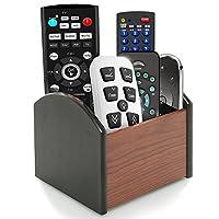Coideal 旋转木笔文具盒桌面办公用品旋转 4 个隔层存储器/旋转遥控架 4 compartments 棕色和黑色