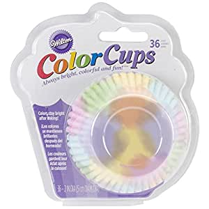 Wilton ColorCups Black/White Damask Standard Baking Cups, 36 Count Watercolor 标准