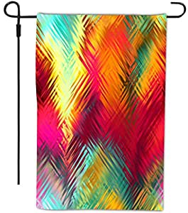 Rikki Knight 热带抽象高斯设计装饰房或花园全出血旗,30.48 x 45.72 cm