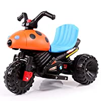 HAPPYBRAND儿童电动车 三轮车摩托车 宝宝可坐玩具车 小孩电动车-8818 (橙色)
