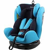 REEBABY 瑞贝乐 汽车儿童安全座椅ISOFIX 0-4-6-12岁婴儿宝宝新生儿可躺 906FIX蓝色(亚马逊自营商品, 由供应商配送)