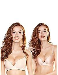 ELLE 内衣文胸 聚拢 无钢圈套装 性感两件组合装小胸收副乳文胸胸罩女 1YS001+1YS002(亚马逊自营商品,由供应商配送)