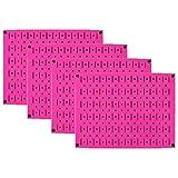 Pegboard Wall Organizer 瓷砖 - 墙壁控制模块化金属钉板瓷砖套装 - 四个 12 英寸高 x 16 英寸宽的木栓板板墙纸存储瓷砖 - 易于安装 粉红色 PEG-BOARD-1264 PINK
