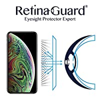 RetinaGuard 抗紫外线防蓝光屏幕保护膜 iPhone Xs Max - SGS & Intertek 测试 - 阻挡过多的有害蓝光,减少眼部*和眼部应变