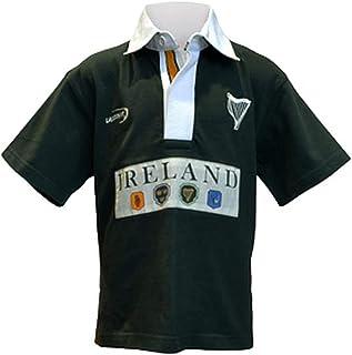 Traditional Craft Ltd. 绿色爱尔兰 4 省短袖儿童橄榄球衫