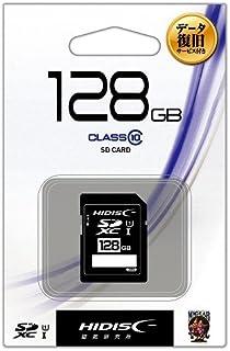 HIDISC SDXC卡 128GB CLASS10 UHS-1适用 附带数据恢复服务 附带塑料壳 HDSDH128GCL10DS