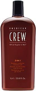 American Crew 3 合 1 洗发水和护发素与沐浴露 American Crew For Men - 85.73 g 洗发水和护发素 W 33.8盎司