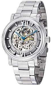 Stuhrling Original 男式 426.33112 经典 Winchester XT 自动镂空银色表盘不锈钢表带手表