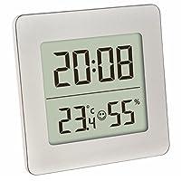 TFA - Dossmann数字温度湿度计 TFA 30.5038.54 银色,室内环境监控