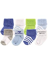Luvable Friends 男女通用8双新生儿袜子  Blue/Mommy 6-12 Months