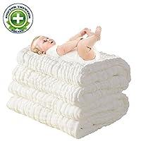 * *纯棉级天然*,吸水,超柔棉纱,适合宝宝娇嫩的皮肤,新生儿平纹棉质保暖婴儿浴巾 也适用于婴儿毯 1 件 P1