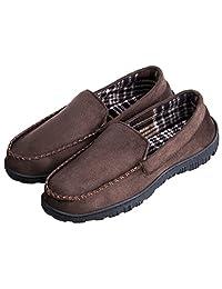 MIXIN 男式时尚温暖舒适乐福鞋驾驶室内室外软帮拖鞋仿皮鞋