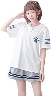 GK-O 日本莫莉女孩可愛帽子毛衣襯衫貓爪印花連帽上衣