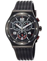 Swatch 中性成人计时石英手表含硅胶表带 YVB404