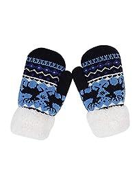 1-5T/3-14T/over 10T 中性款儿童学步手套保暖厚手套暖手手套寒冷天气手套