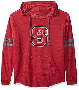 Ouray Sportswear NCAA 北卡罗来纳州狼队女式连帽低钥匙套头衫,复古紫红色/复古灰,XL 码