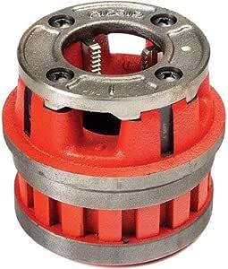 RIDGID 37405 型号 12-R 手螺纹冲压头,合金右手 NPT 凹头,适用于标称管尺寸 3.81 cm