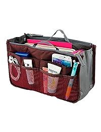 女用女式旅行插入手提包 organiser 钱包大 LINER 记事本 tidy bag-red