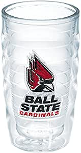 Tervis 1048396 Ball State University Emblem Individual Tumbler, 10 oz, Clear