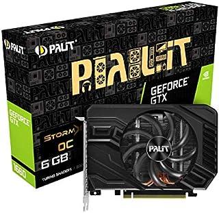 Palit GeForce GTX 1660 StormX OC 6 GB GDDR5 显卡,DisplayPort,HDMI,双链接 DVI-D